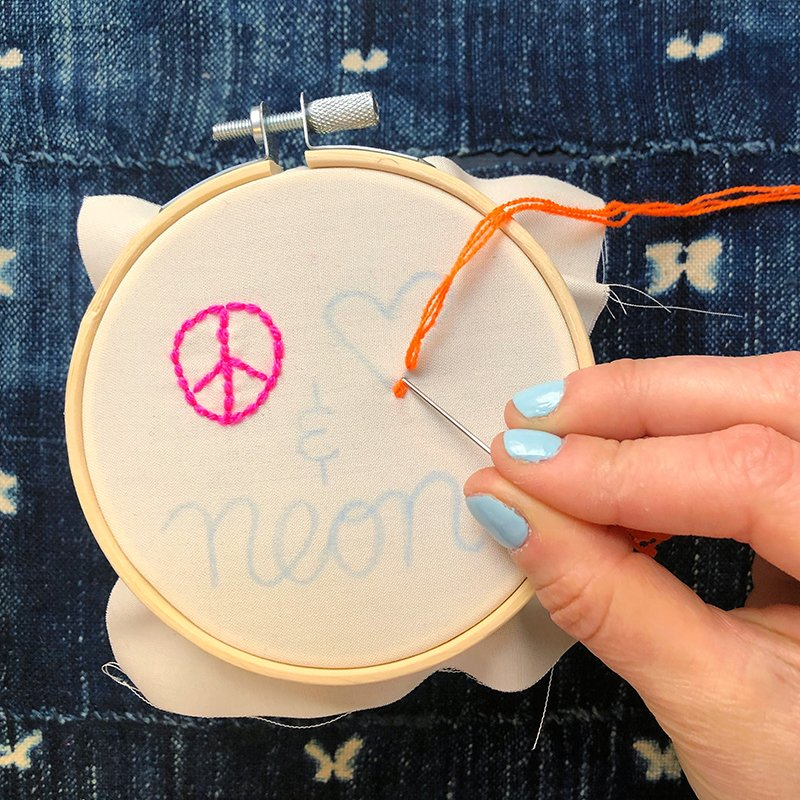 The Neon Tea Party - Step-by-Step - Backstitch 6