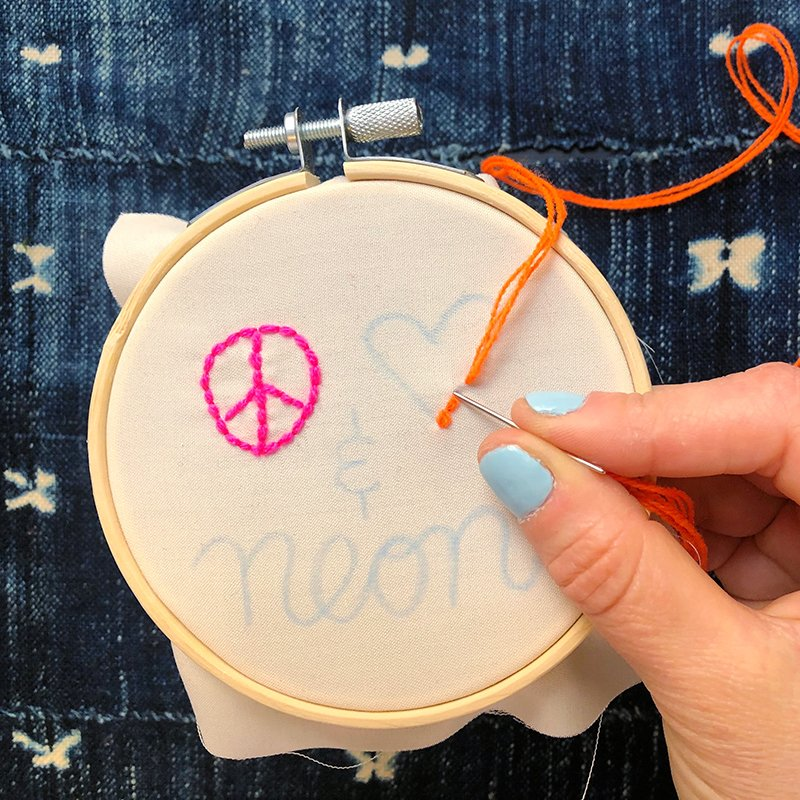 The Neon Tea Party - Step-by-Step - Backstitch 9