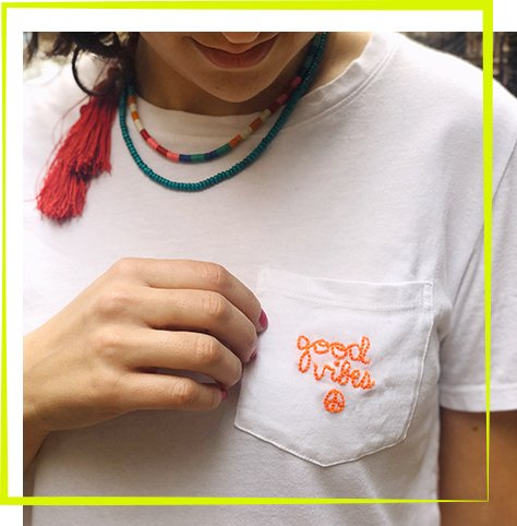 The Neon Tea Party Workshop - Embroidered Words
