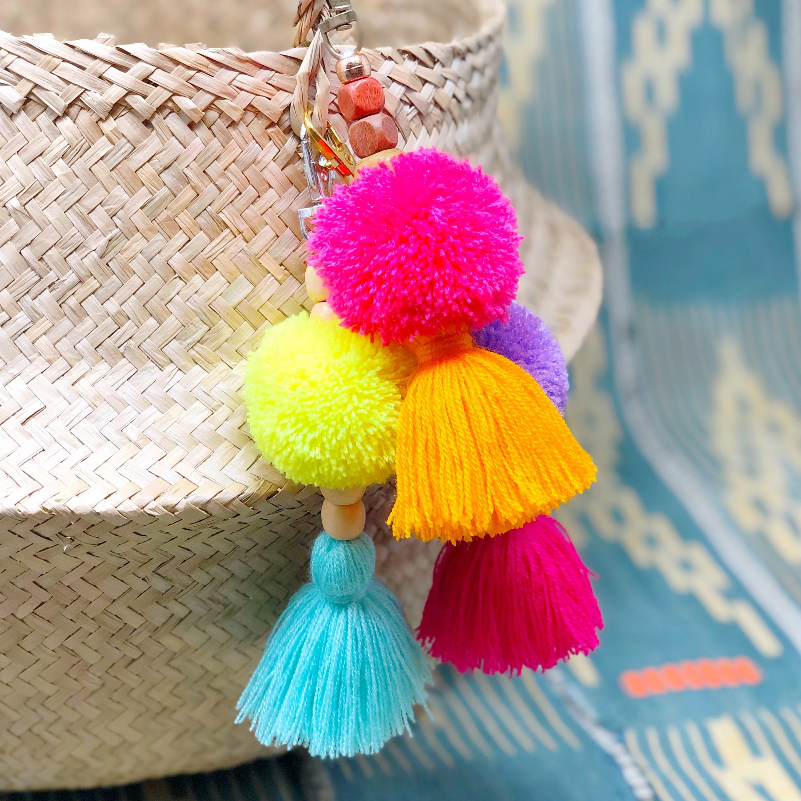 The Neon Tea Party - Dylan's Candy Bar - Pom-Tassel Keychainss - Bag Charms - 1