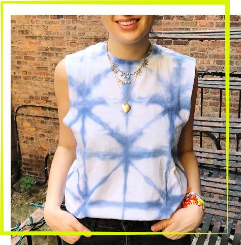 The Neon Tea Party Workshop - Shibori Tie Dye