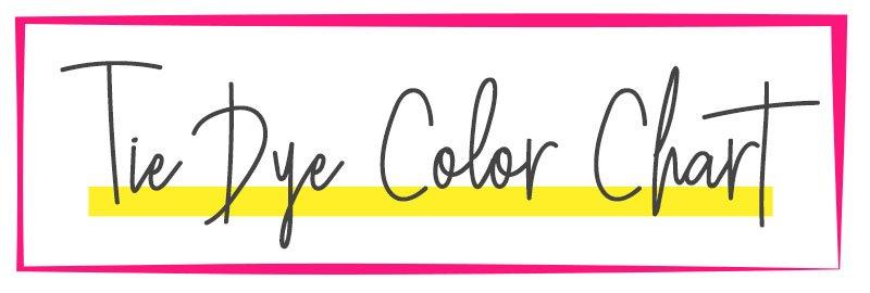 Tie Dye Color Chart Title Graphic