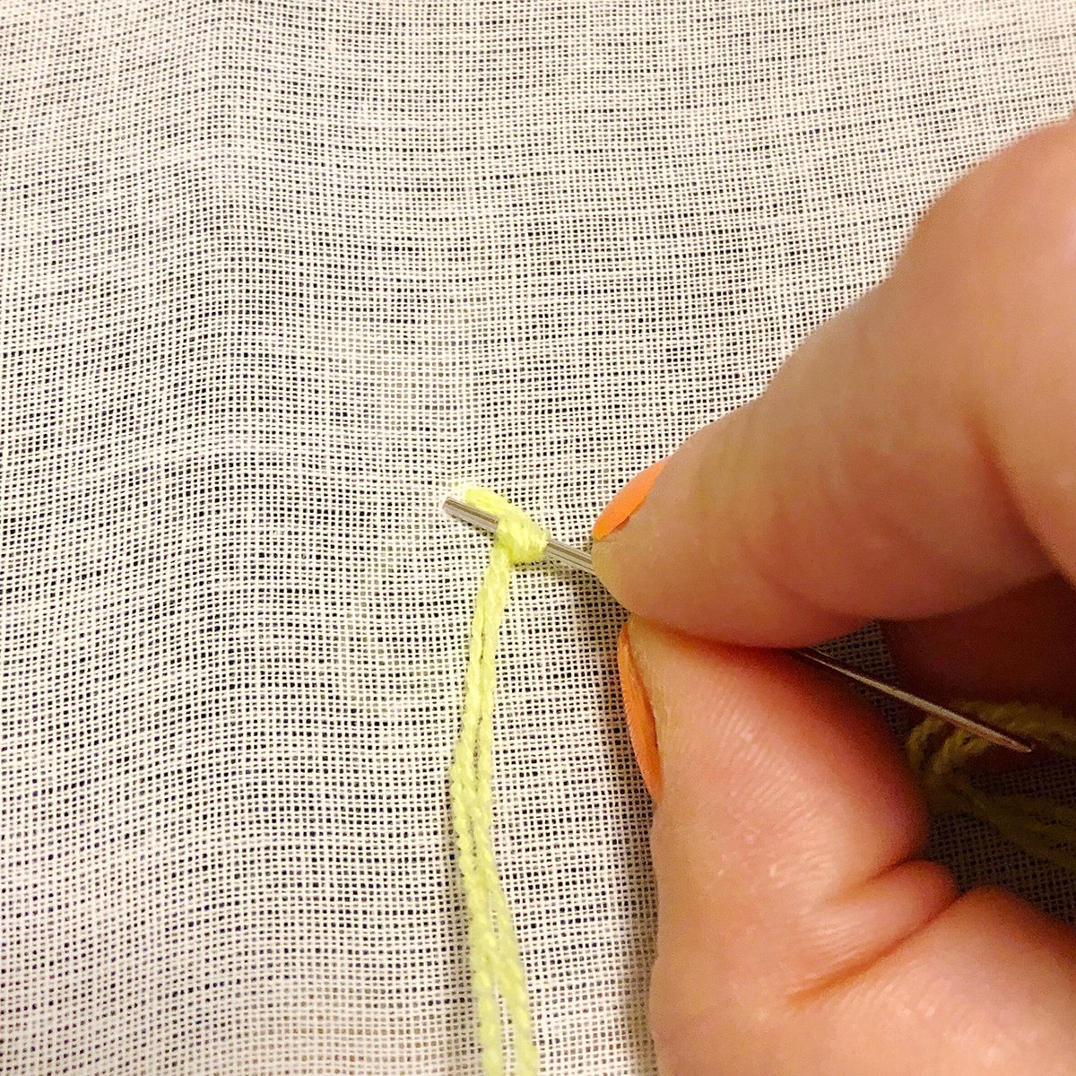 Embroidery - French Knot - 04