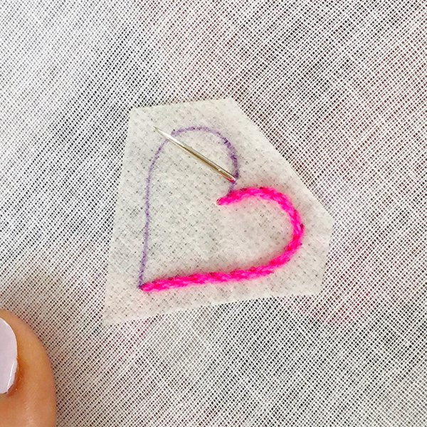 Embroidery Stem Stitch Tutorial - The Neon Tea Party