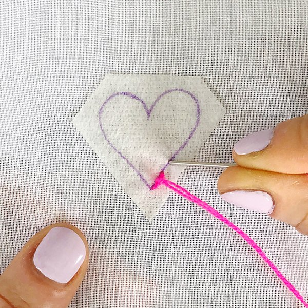 Embroidery-Stem Stitch Tutorial - The Neon Tea Party