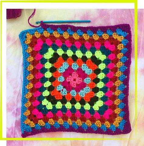 3_21 - Granny Square Pillow Workshop
