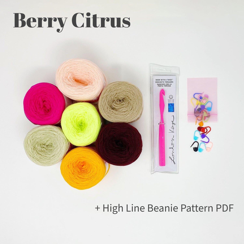 High Line Beanie Bundle - Berry Citrus - labeled