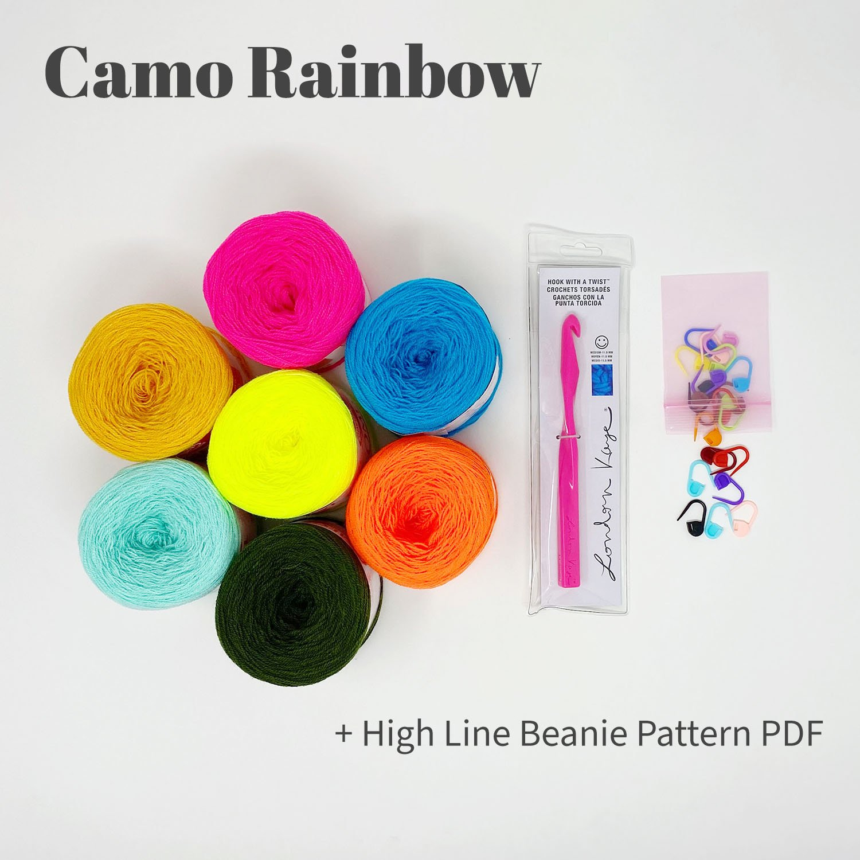 High Line Beanie Bundle - Camo Rainbow - labeled