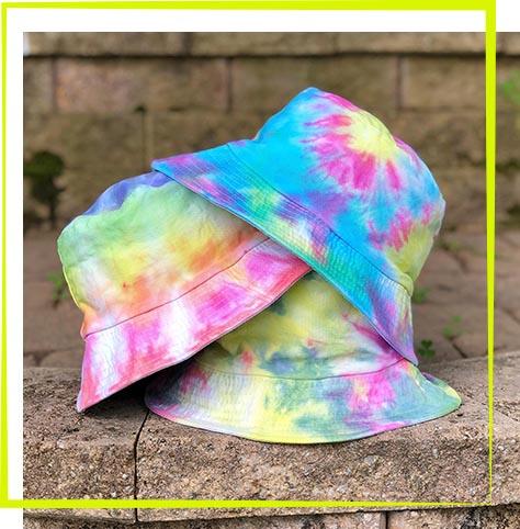 Tie Dye Bucket Hat Workshop