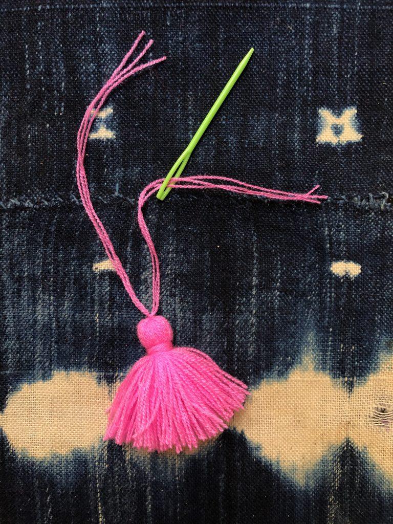 StackedTassel Earrings Thread Needle