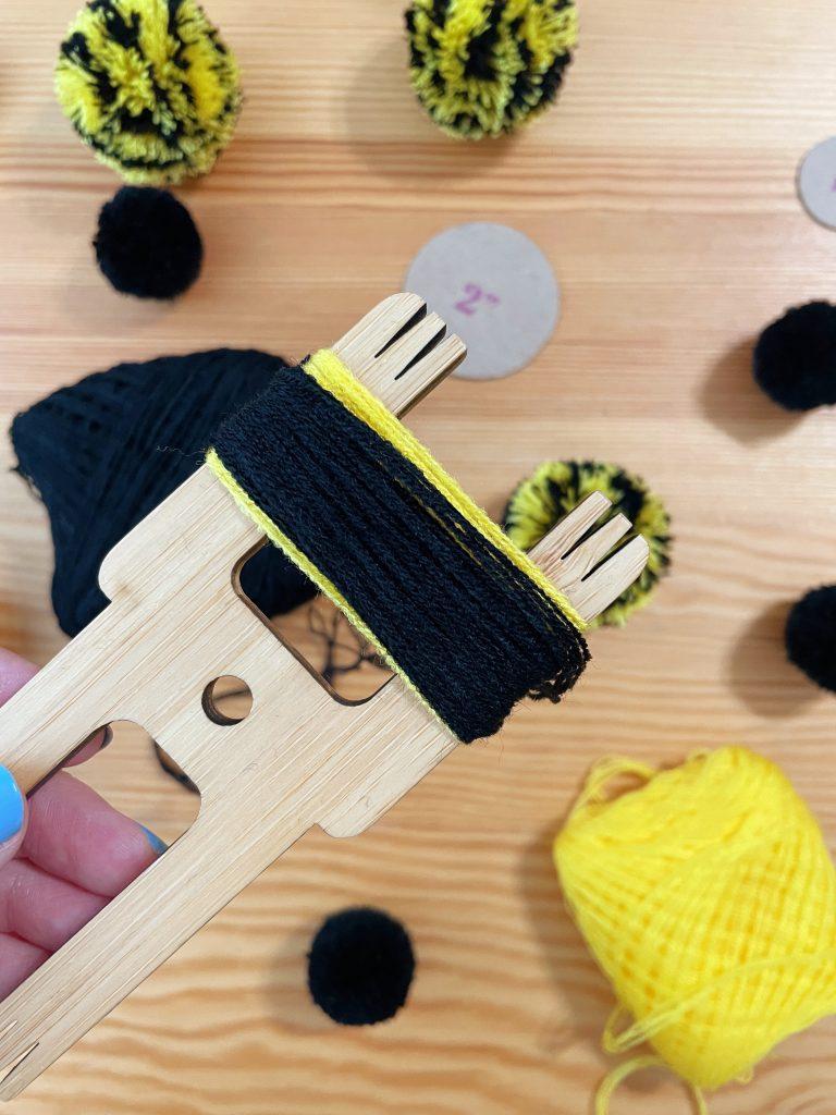DIY Bee Pom Pom Step 3