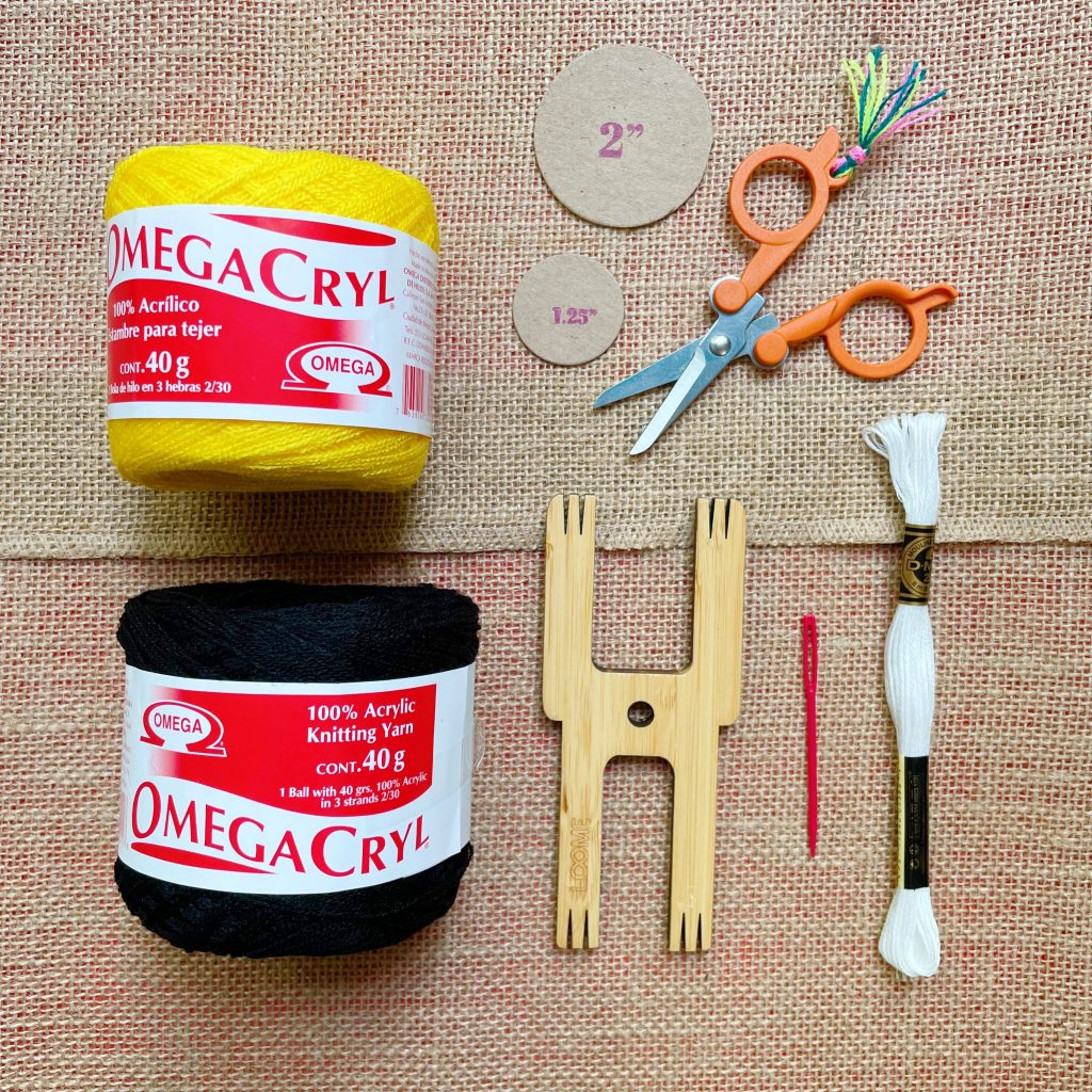 DIY Bee Pom Pom Supplies
