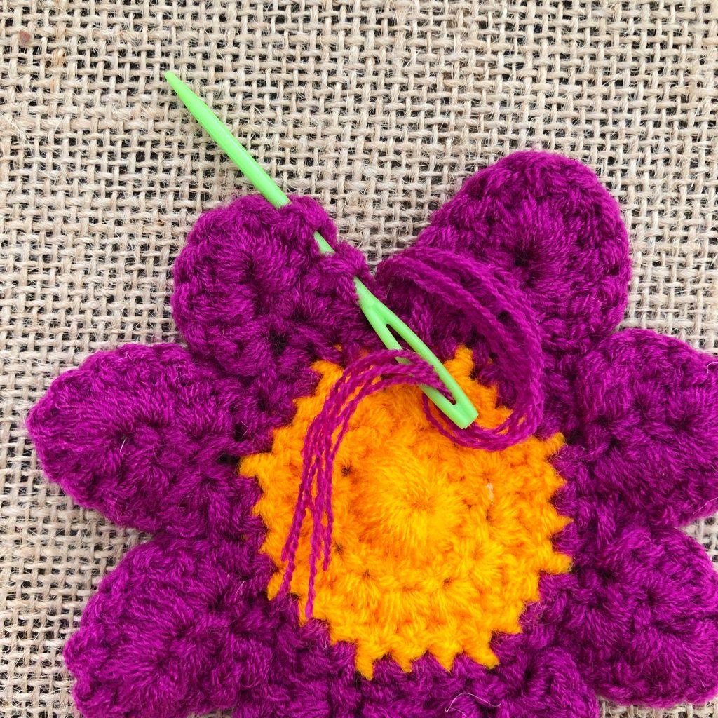 Crochet Flower Petals Step 28