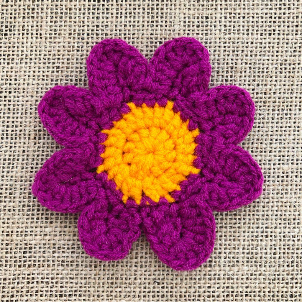 Crochet Flower Petals Step 29