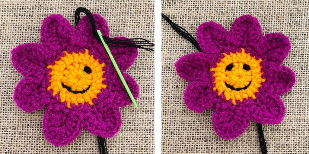 Crochet Smiley Face Eye 1-2