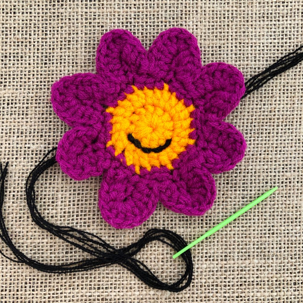 Crochet Smiley Face Mouth