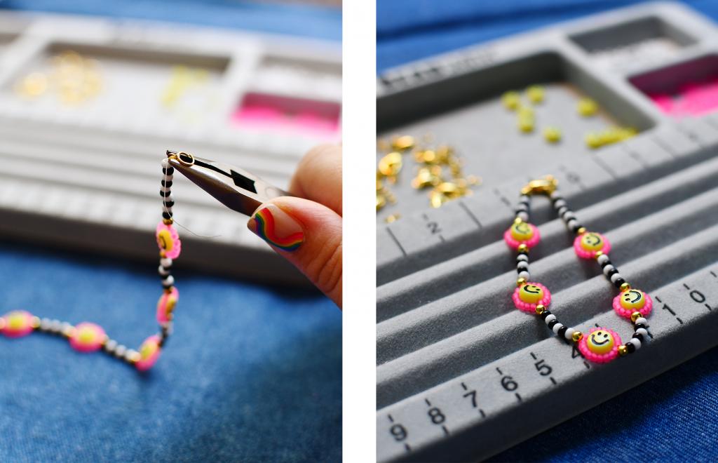 Daisy Chain Jewelry Steps 10-11