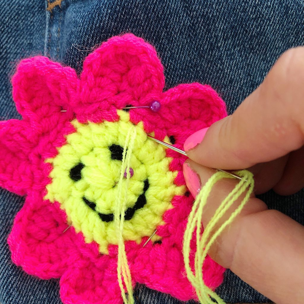 Sewing Crochet Patches