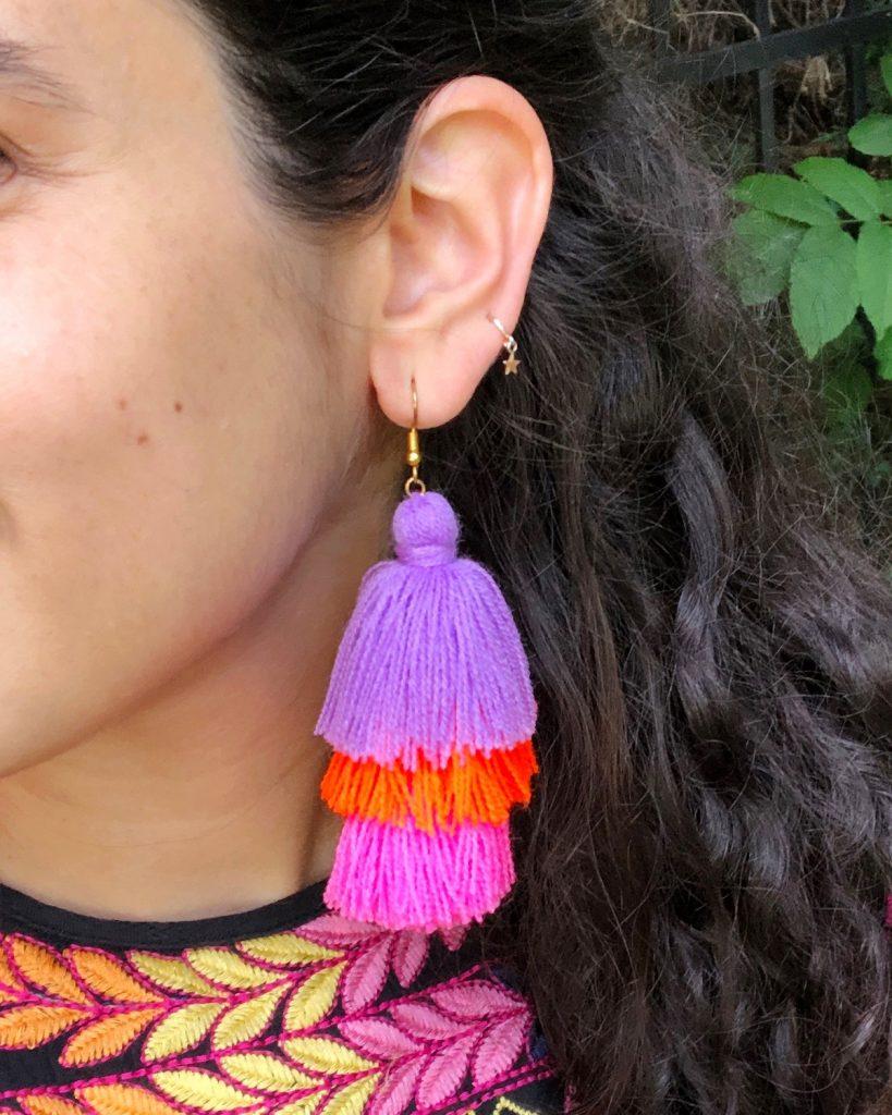 DIY Stacked Tassel Earrings