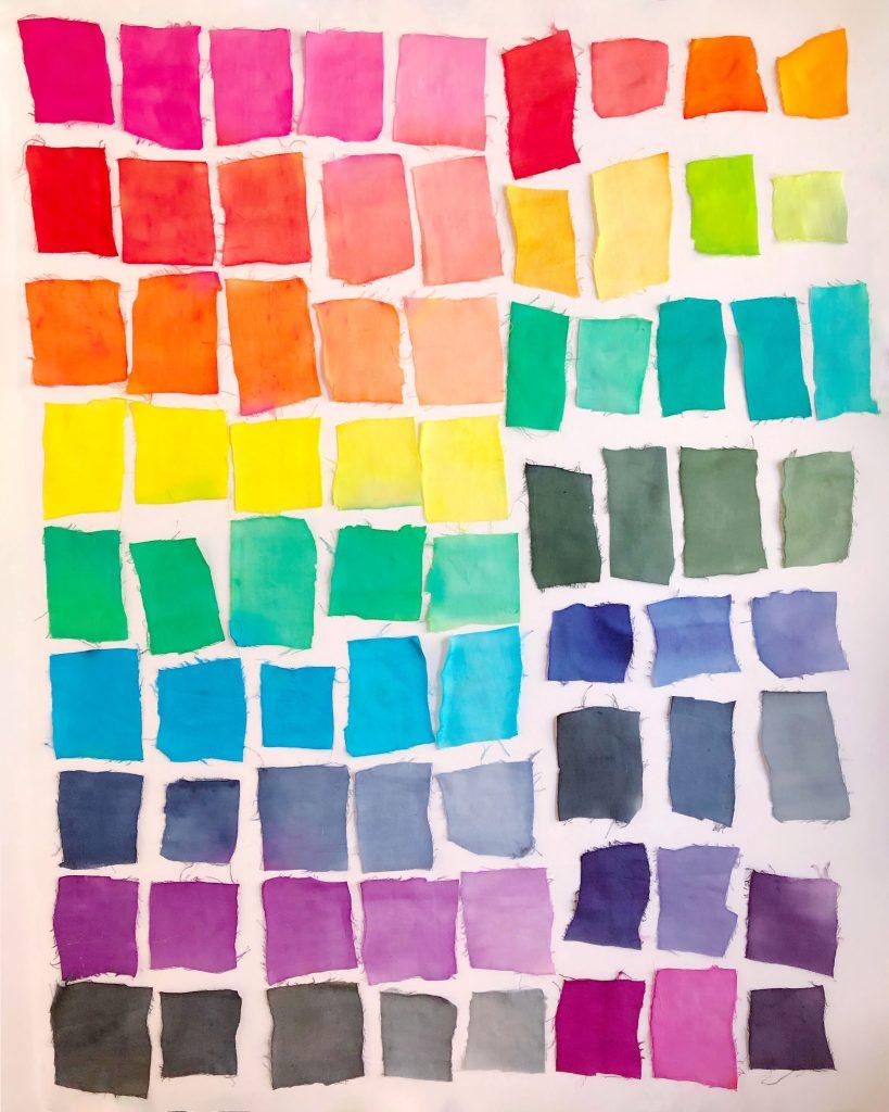 The Neon Tea Party - Tie Dye Chart