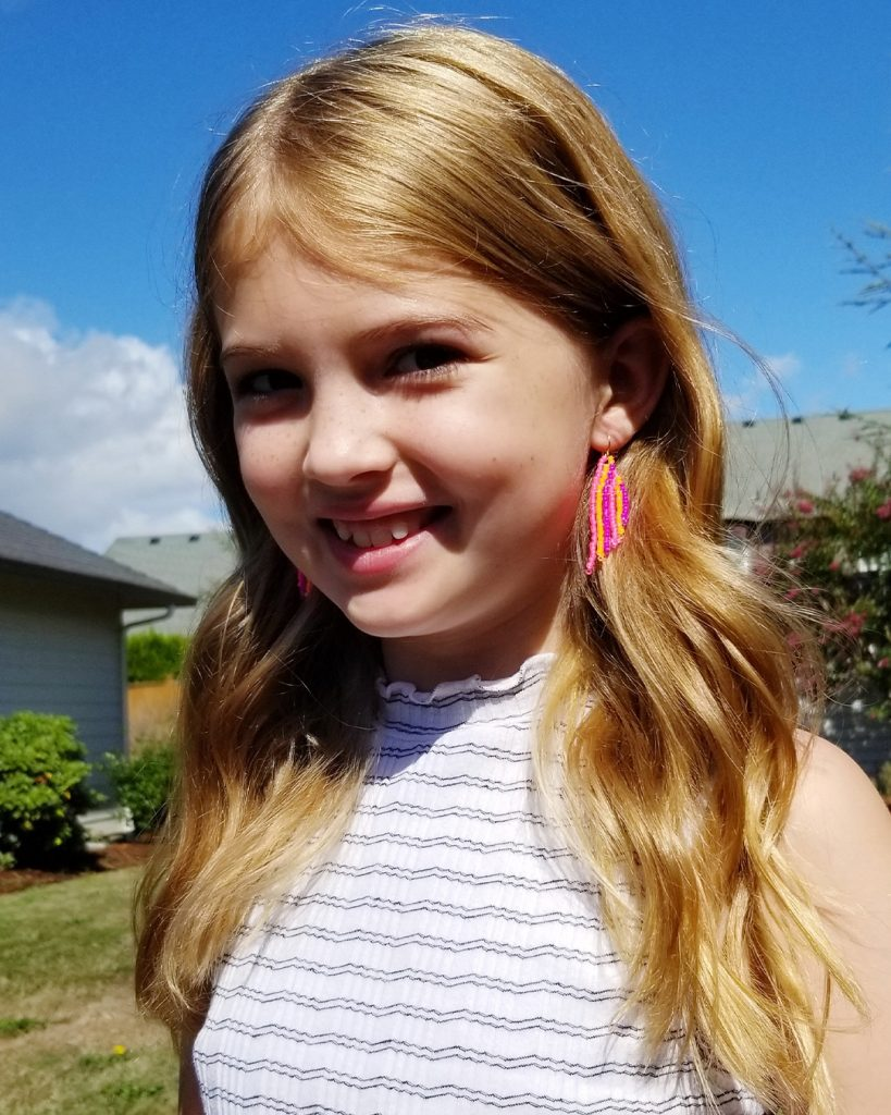 Brick Stitch Earrings Lifestyle