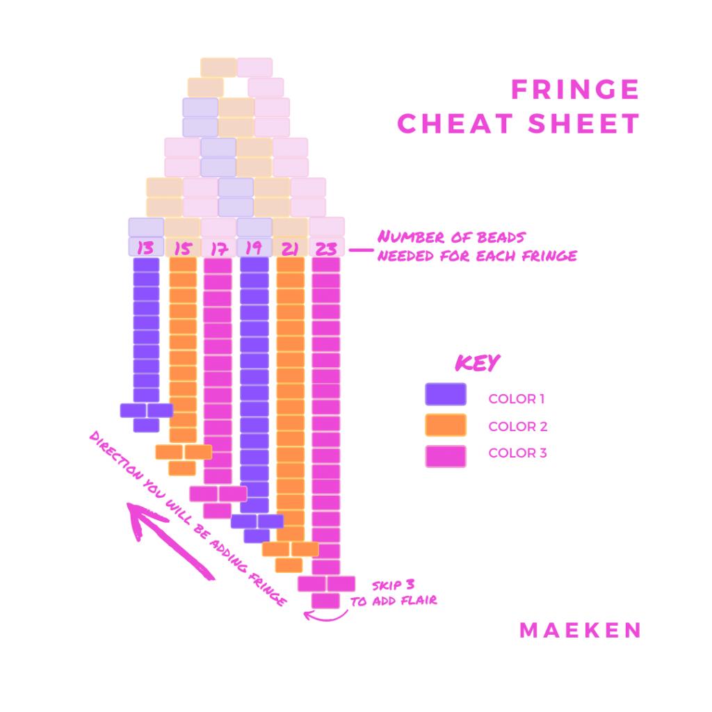 Brick Stitch Fringe Cheat Sheet
