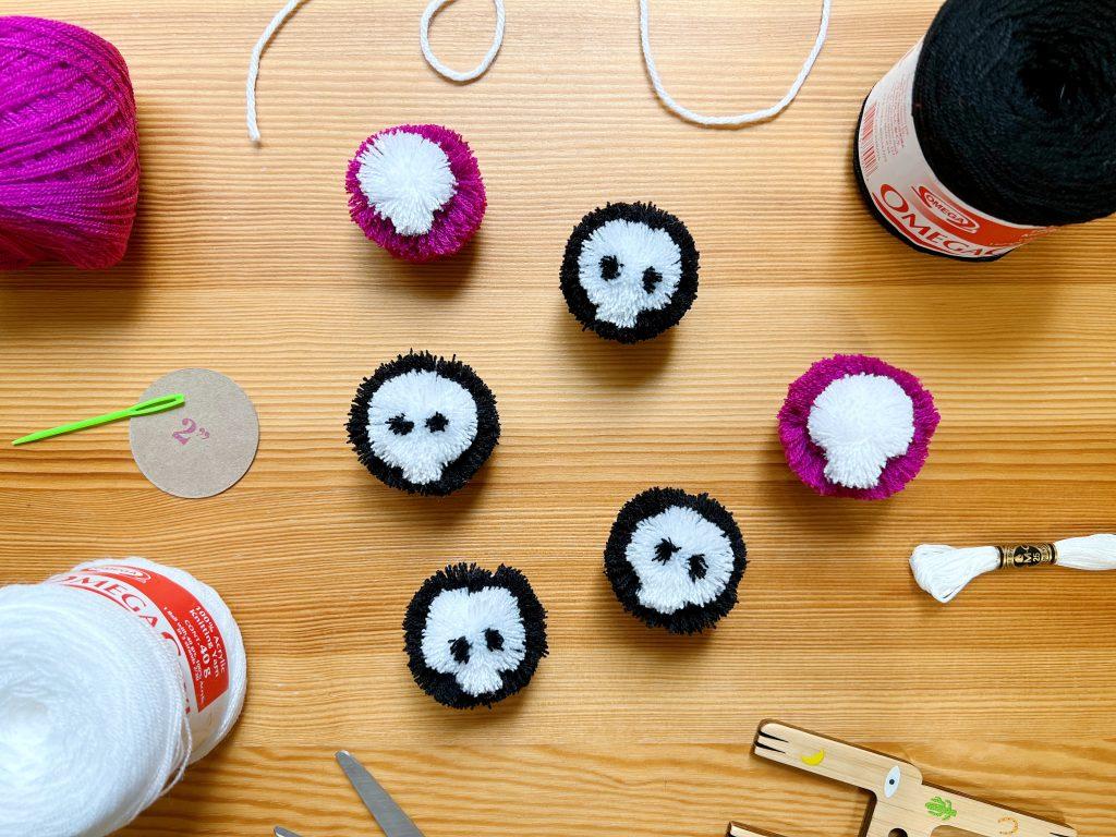 DIY Skull Pom Poms
