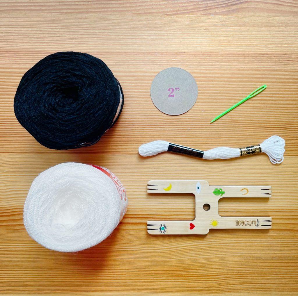 DIY Skull Pom Pom - Supplies