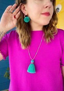 Beaded Tassel Jewelry - on Dorth 2