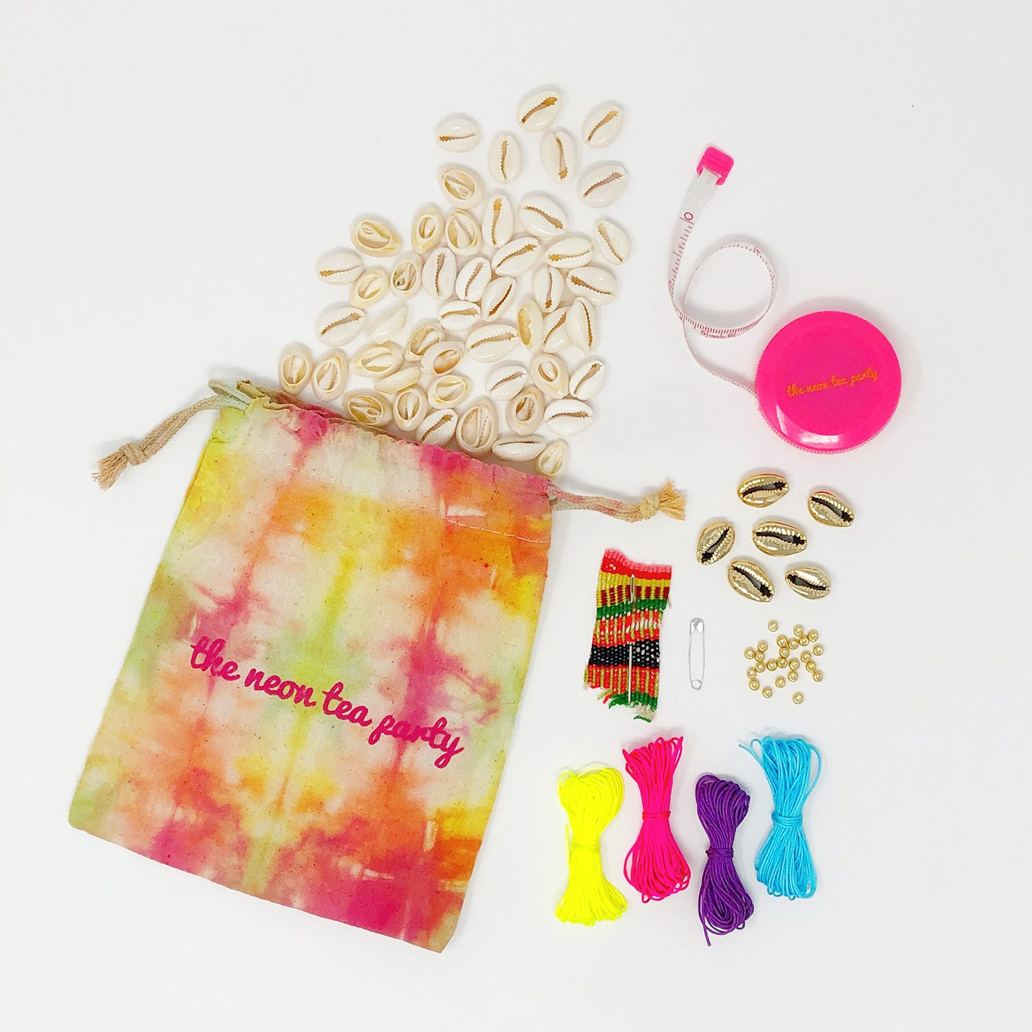Cowrie Shell Jewelry DIY Kit - The Neon Tea Party 1
