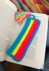 Crochet Bookmark Pattern - The Neon Tea Party