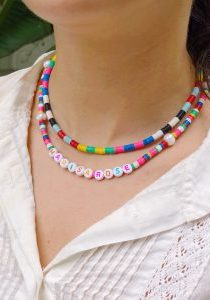DIY Color Blocked Beaded Necklace - The Neon Tea Party
