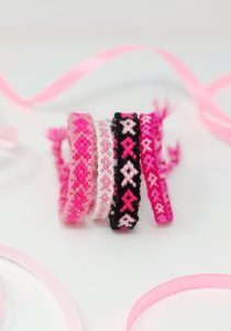 DIY Pink Ribbon Friendship Bracelets - The Neon Tea Party - Hero