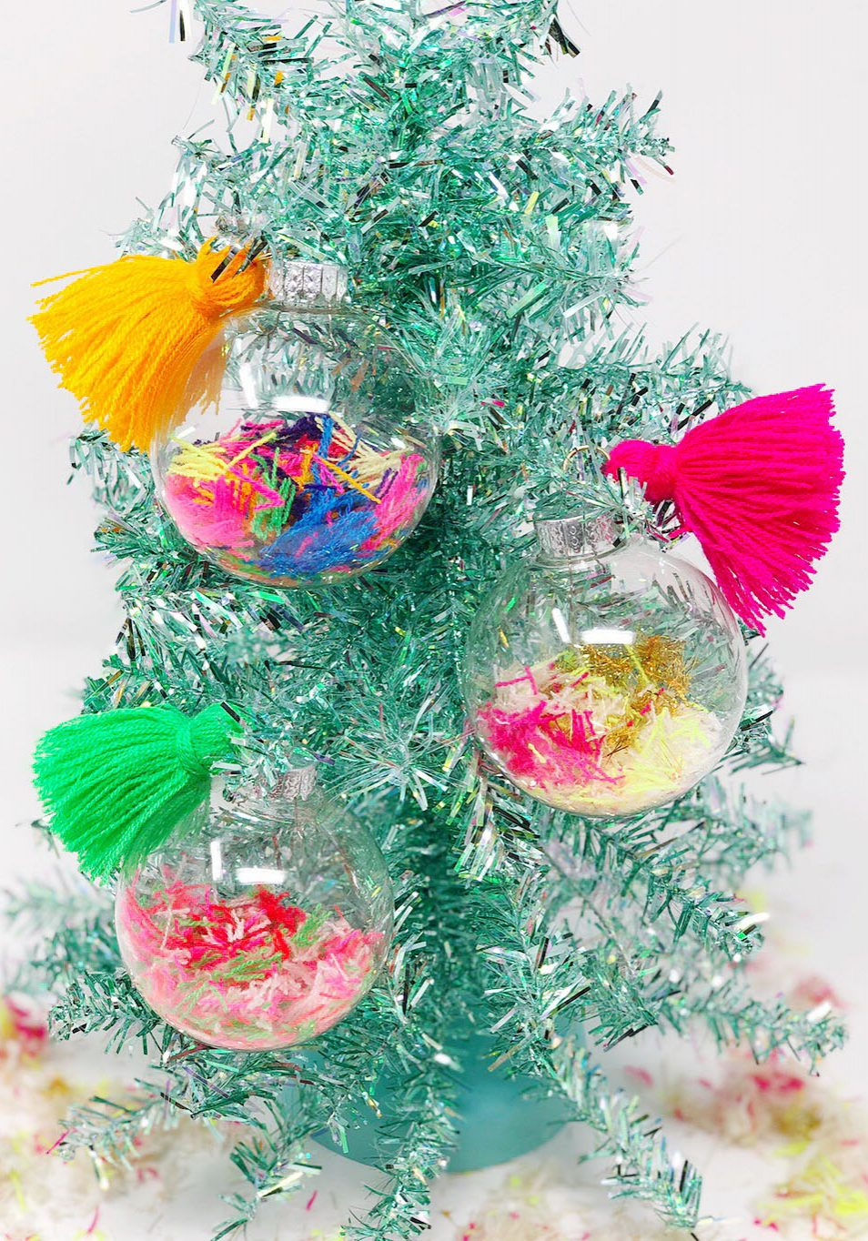 DIY Yarn Scrap Pom Poms The Neon Tea Party