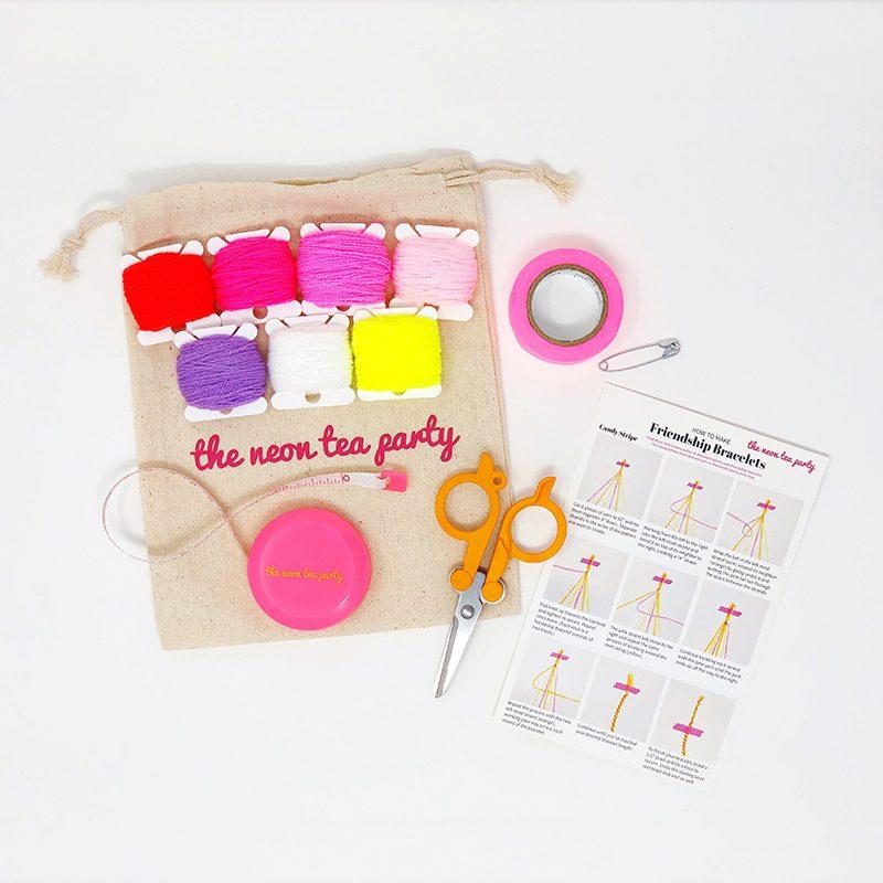 Friendship Bracelet Kit - The Neon Tea Party - Valentine's Day 2020