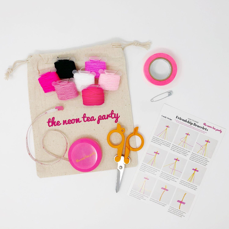 Friendship_Bracelet_Kit-The_Neon_Tea_Party-Pink-Ribbons-Kit