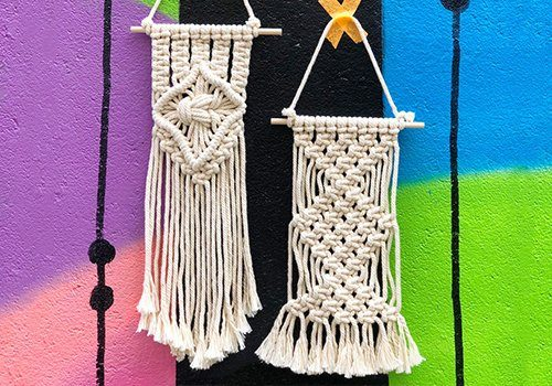 NYC New York City Macrame Party Workshop The Neon Tea Party