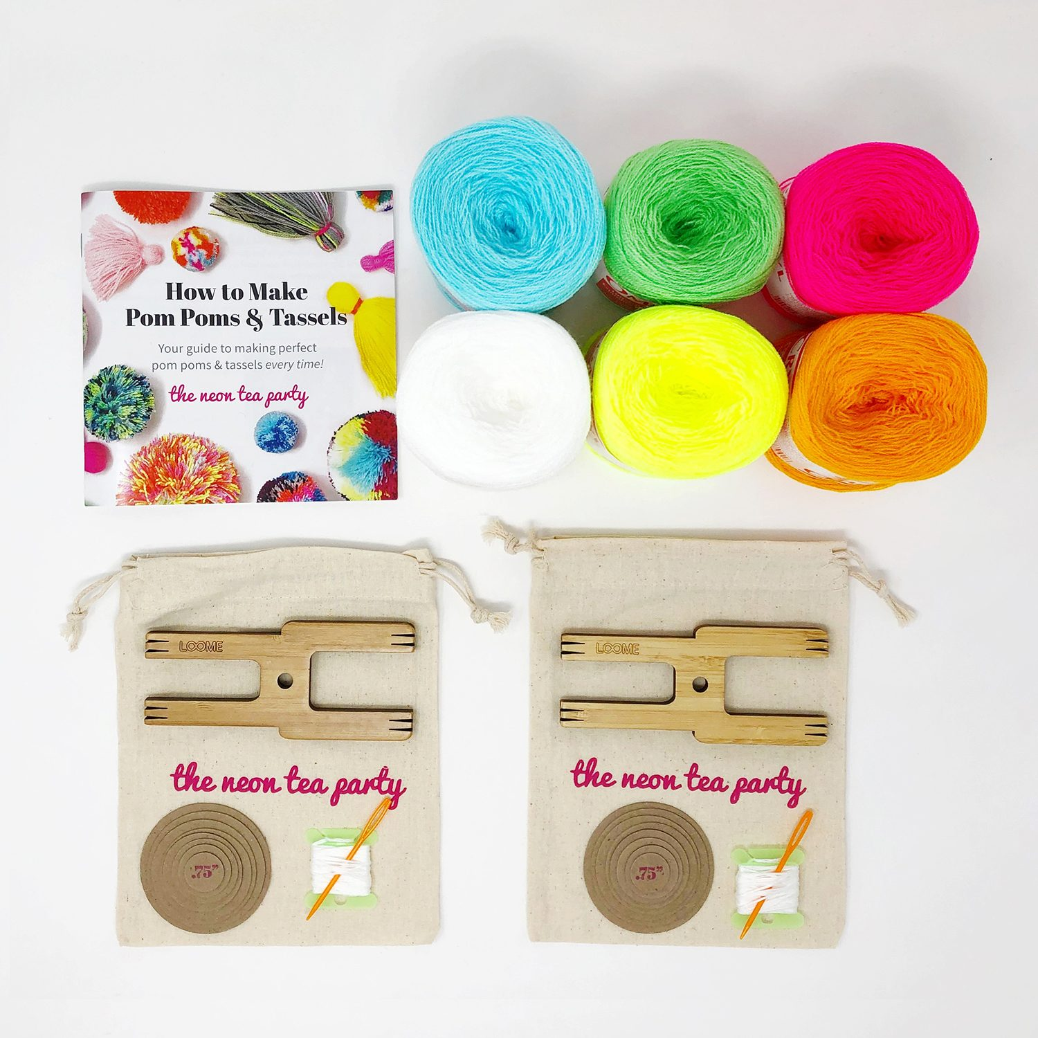 Pom Pom and Tassel Kit - Duo - The Neon Tea Party