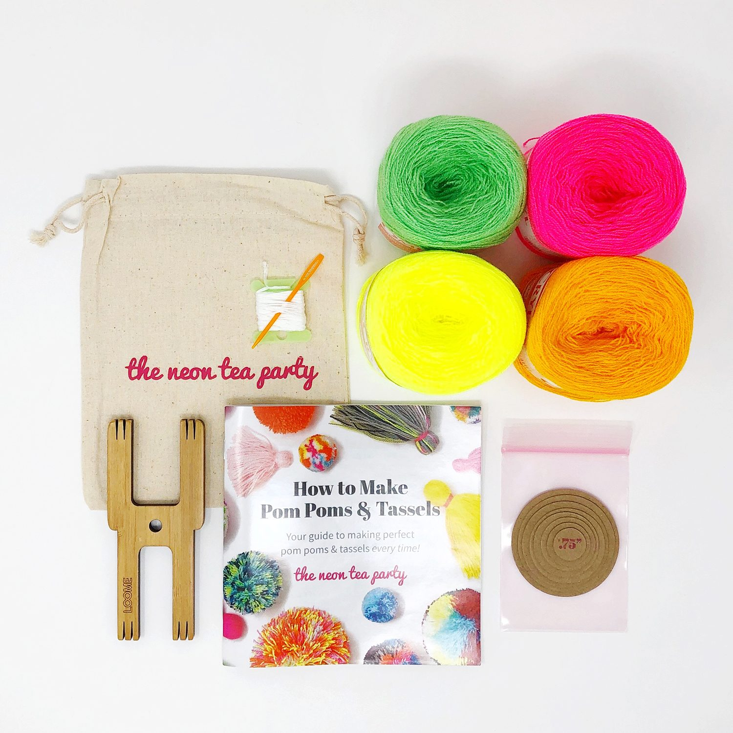 Pom Pom and Tassel Kit - Starter - The Neon Tea Party