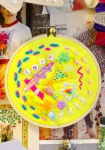 Process Art Embroidery - The Neon Tea Party