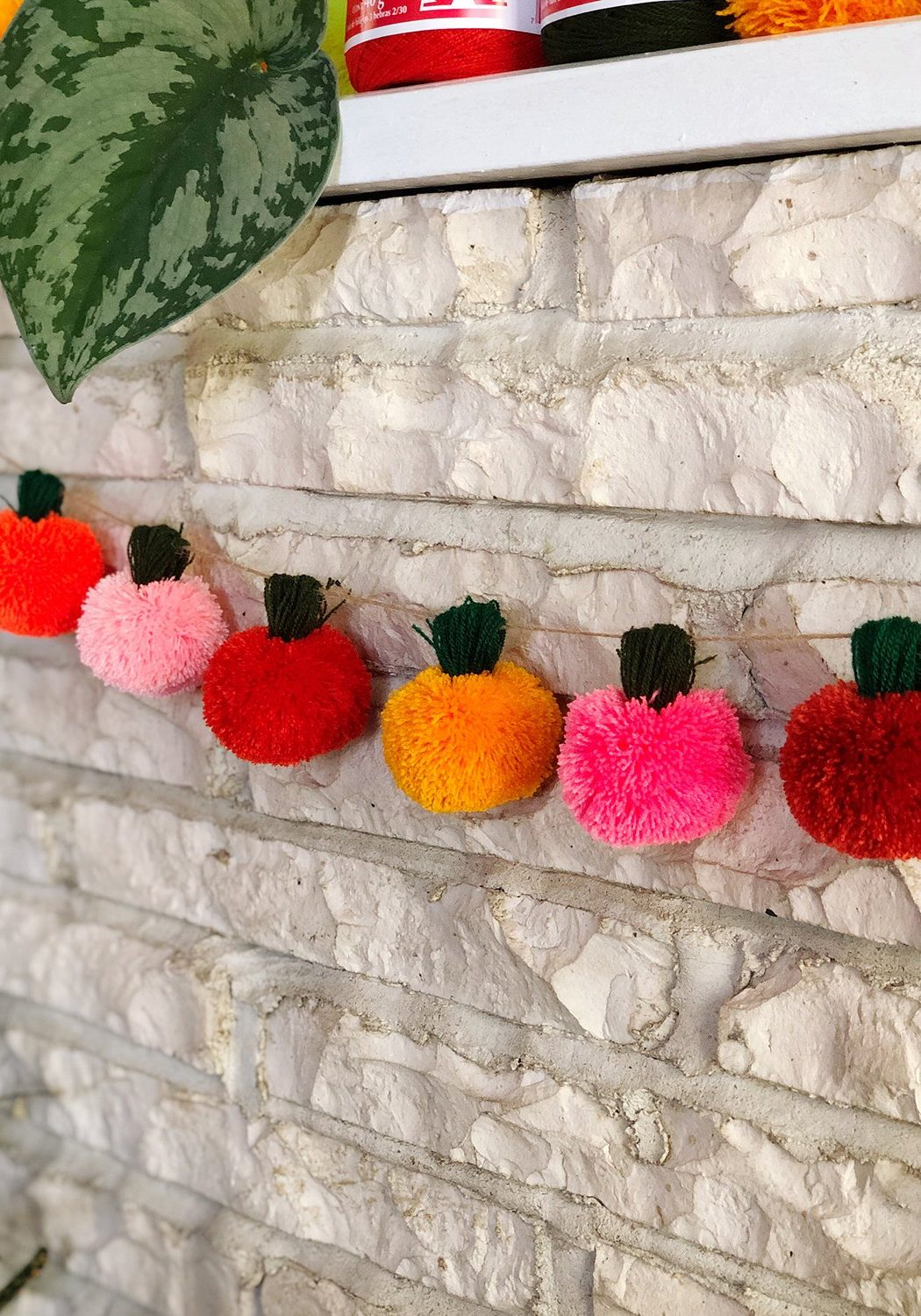 Pumpkin Pom Poms - The Neon Tea Party
