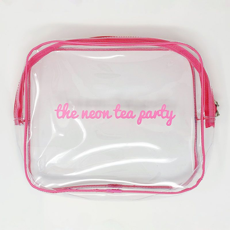 The Neon Tea Party - Clear Vinyl Pouch - Medium