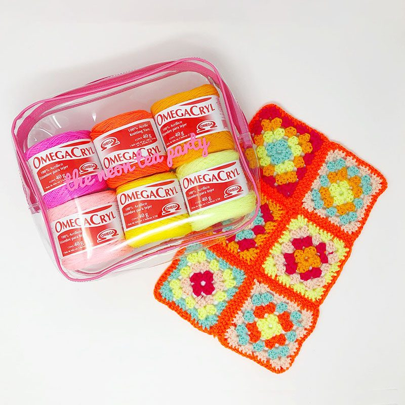 The Neon Tea Party - Granny Square Kit - 2