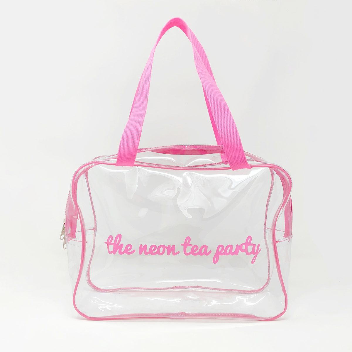 The Neon Tea Party - Large Vinyl Craft Bag