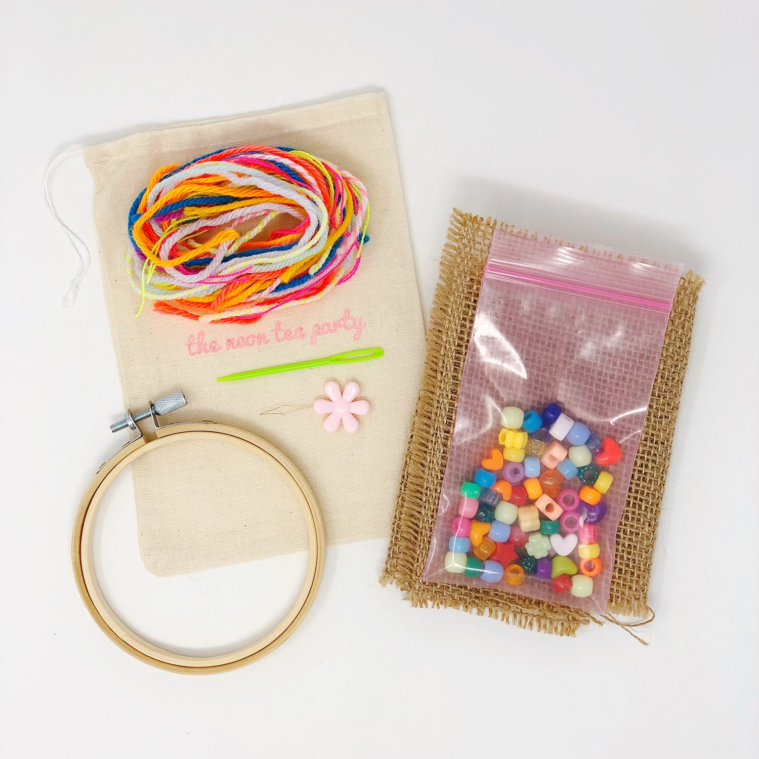 The Neon Tea Party - Process Embroidery Kit 1