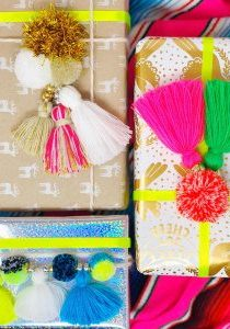 The Neon Tea Party Pom Pom Tassel Gift Toppers