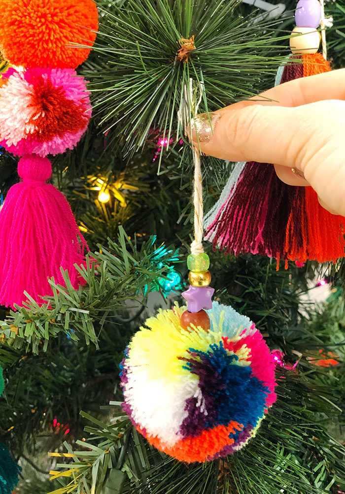 The Neon Tea Party Pom & Pom Tassel Ornaments