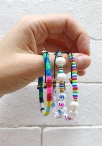 DIY Beaded Word Bracelets The Neon Tea Party WomanShopsWorld