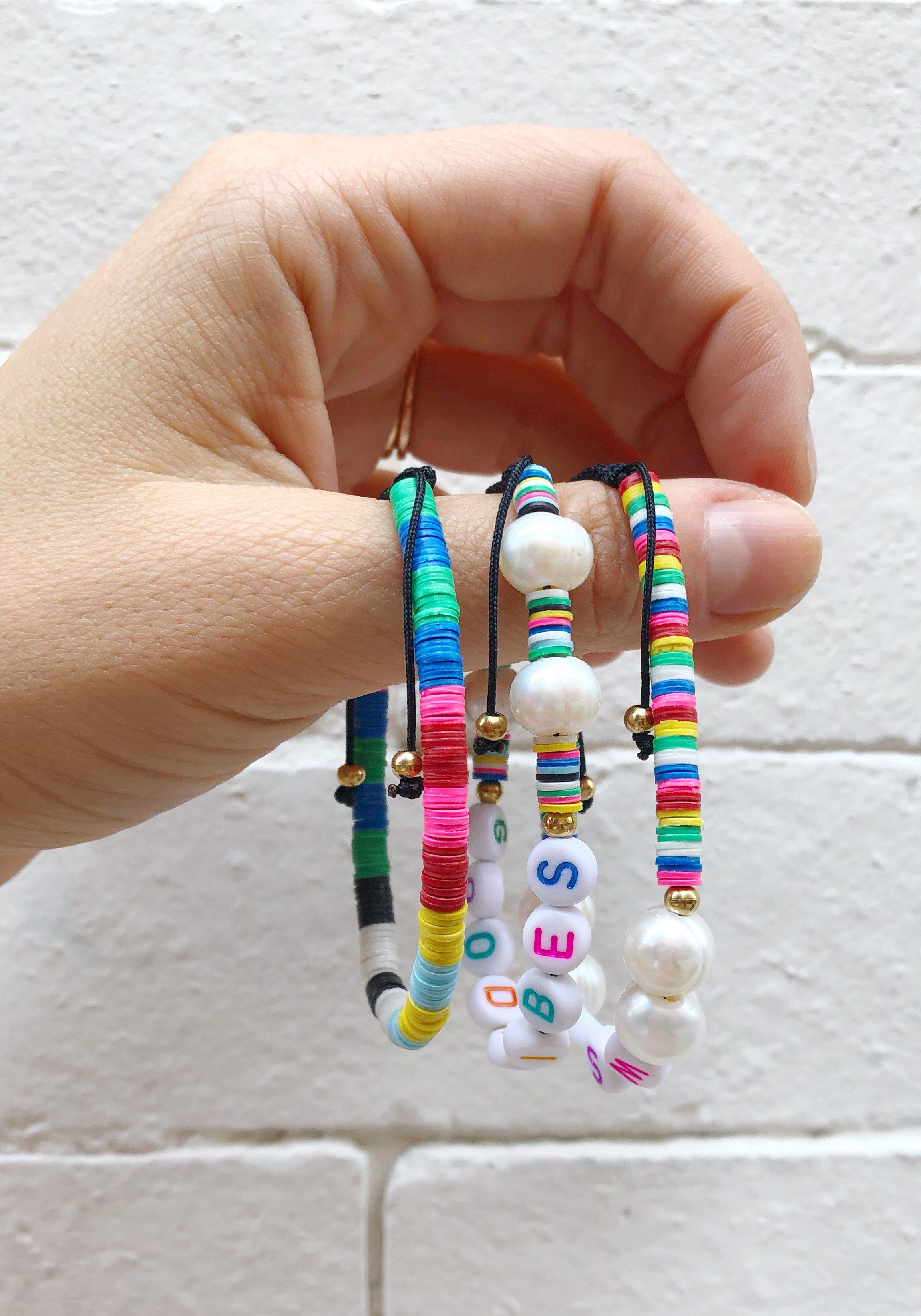 DIY Beaded Word Bracelets The Neon Tea Party WomanShopsWorld